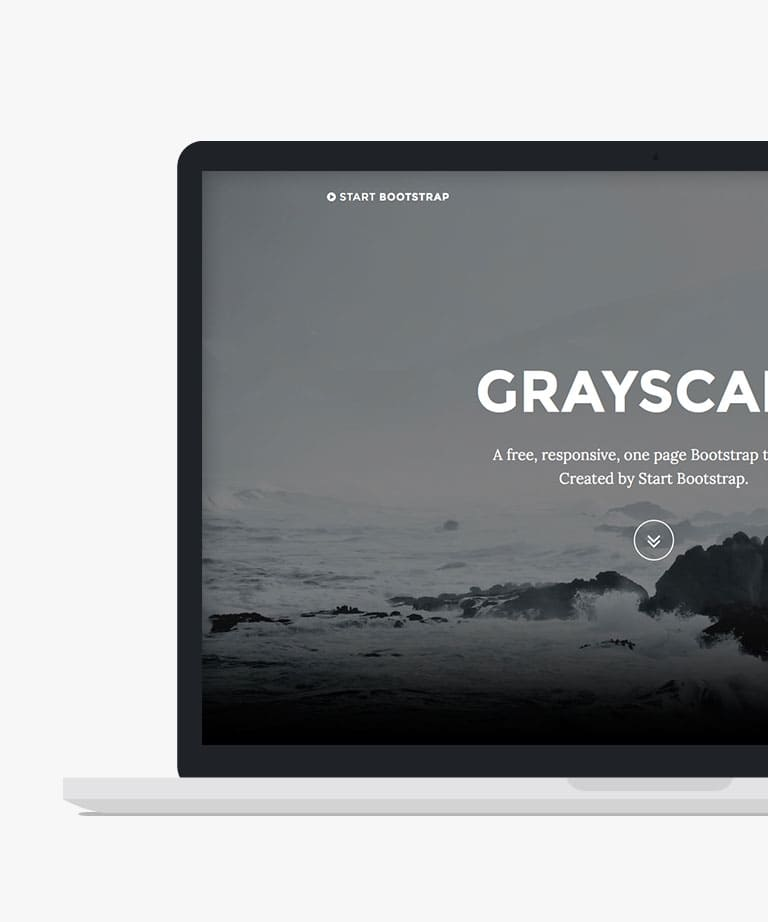 Grayscale Free responsive HTML5 Bootstrap template