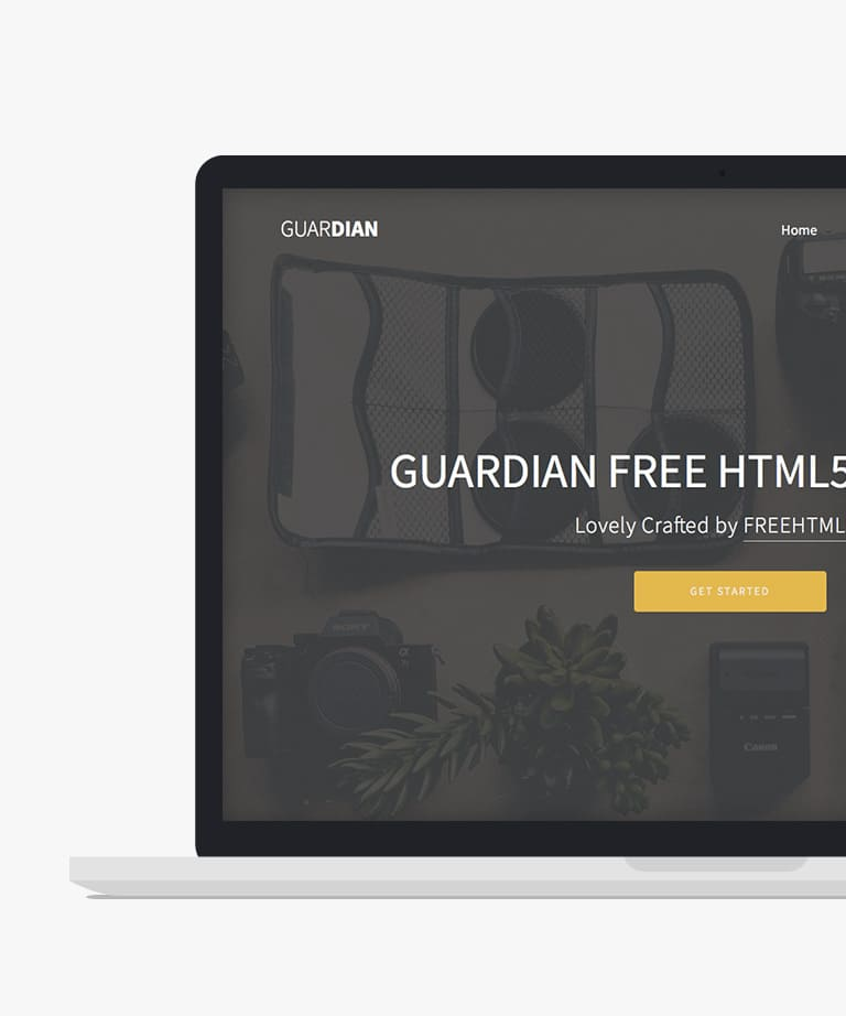 Guardian Free responsive HTML5 Bootstrap Multipurpose template