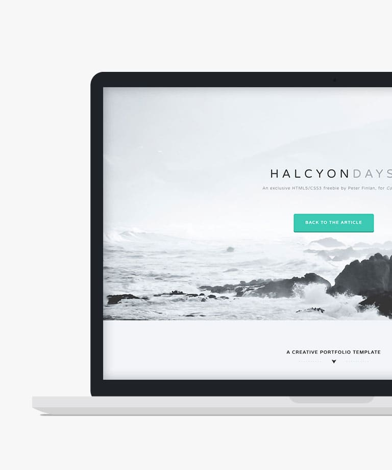 Halcyon Days Free responsive HTML5 Bootstrap template