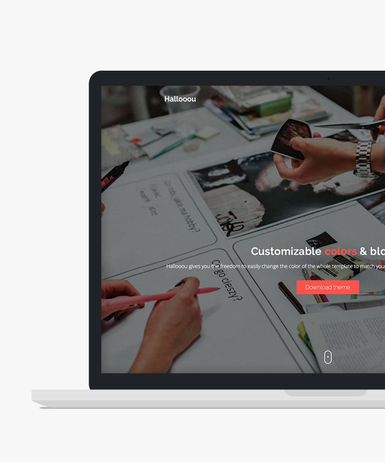 Hallooou Free responsive HTML5 Bootstrap template