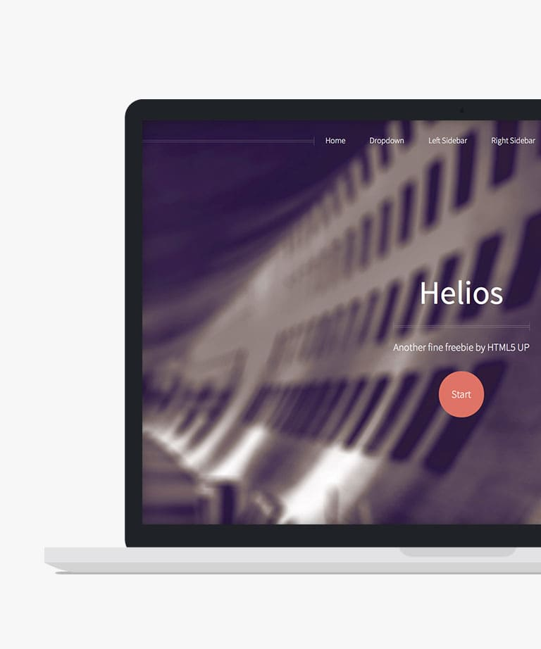 Helios Free responsive HTML5 template