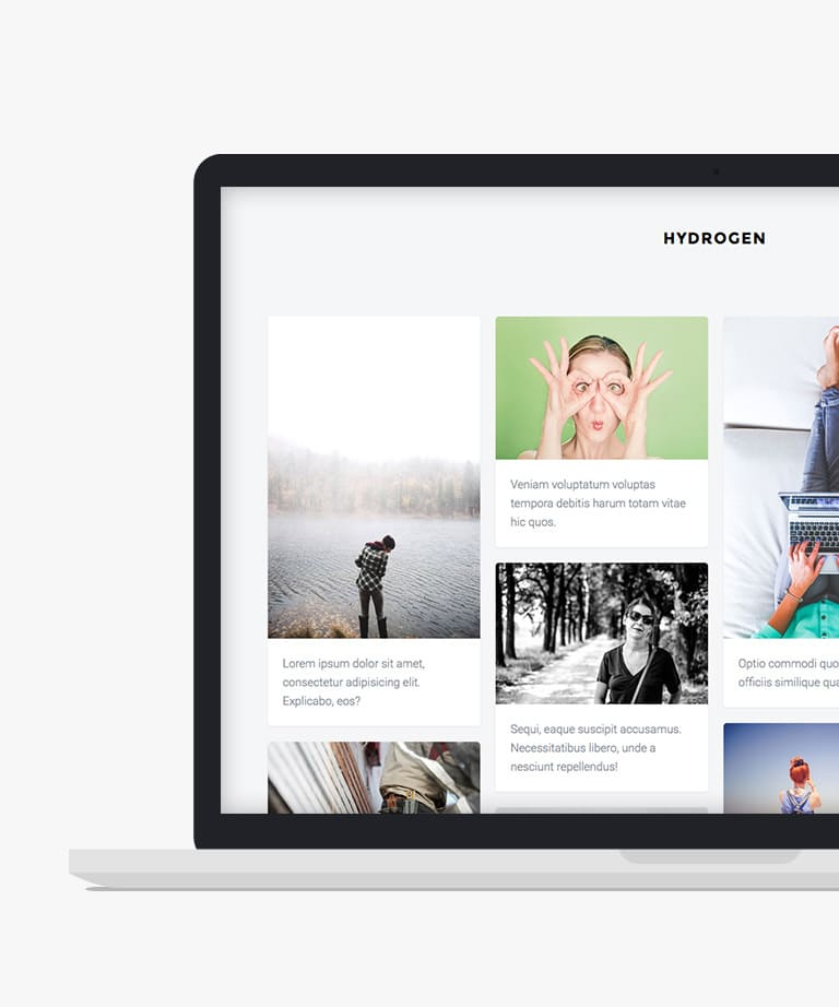 Hydrogen Free responsive HTML5 Bootstrap Masonry template