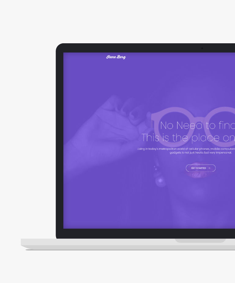 Ilene Berg Free responsive HTML5 Bootstrap Landing page template