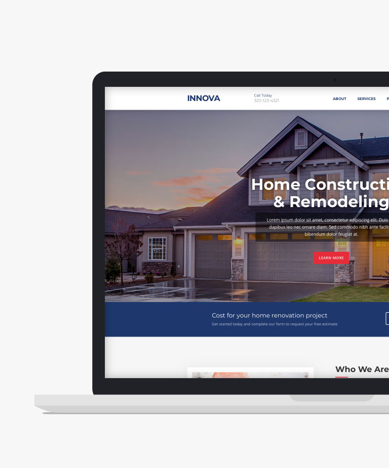 Innova Free responsive HTML5 Bootstrap Construction page template