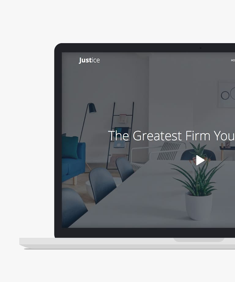 Justice Free responsive HTML5 Bootstrap One page template