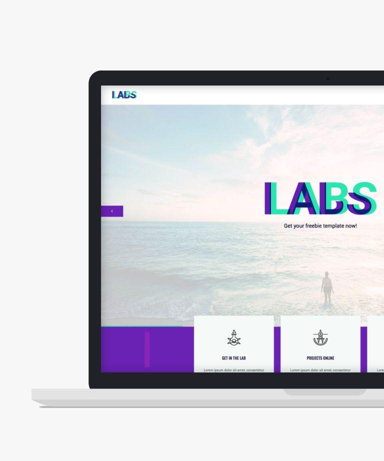 Labs Free responsive HTML5 Bootstrap Portfolio template