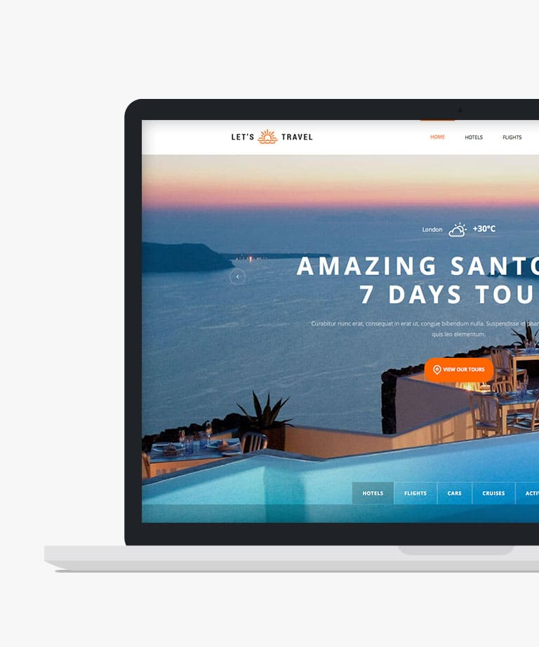 Let's travel Responsive HTML5 Bootstrap Travel template