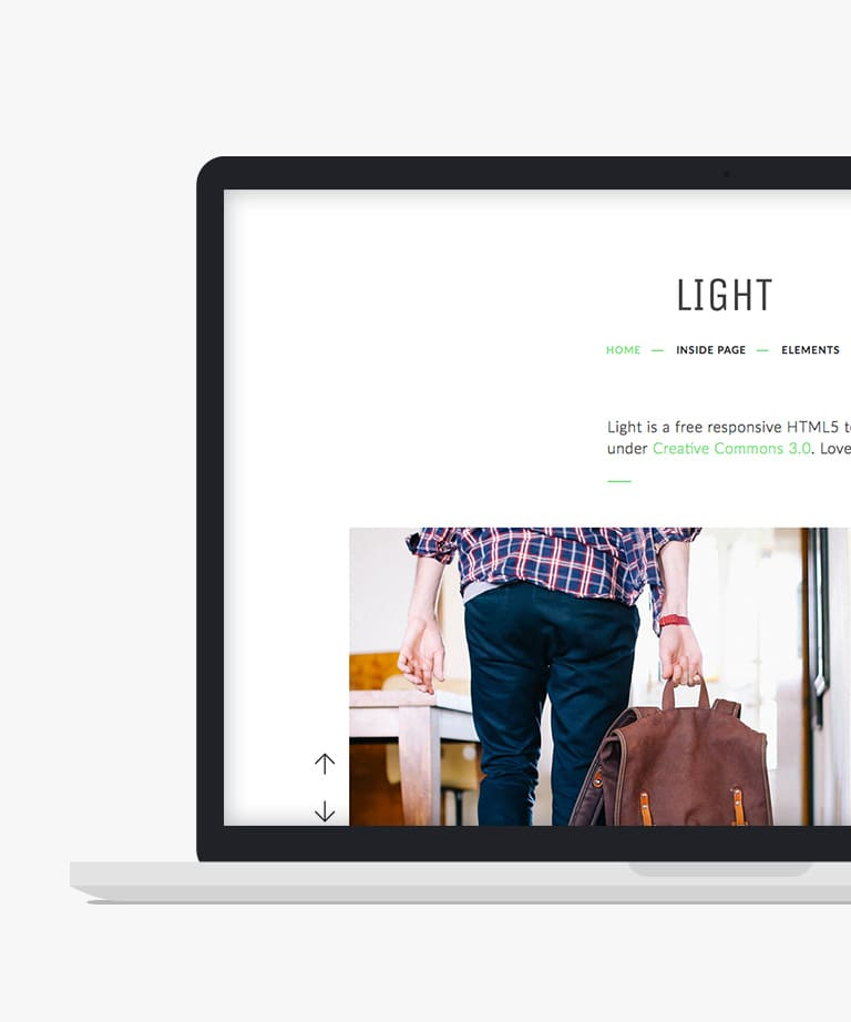 Light Free responsive HTML5 Bootstrap Multipurpose template