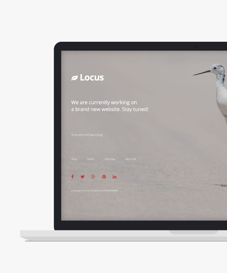 Locus Free responsive HTML5 Bootstrap Coming Soon template