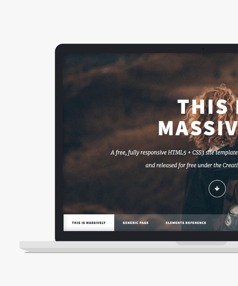Massively Free responsive HTML5 Personal template