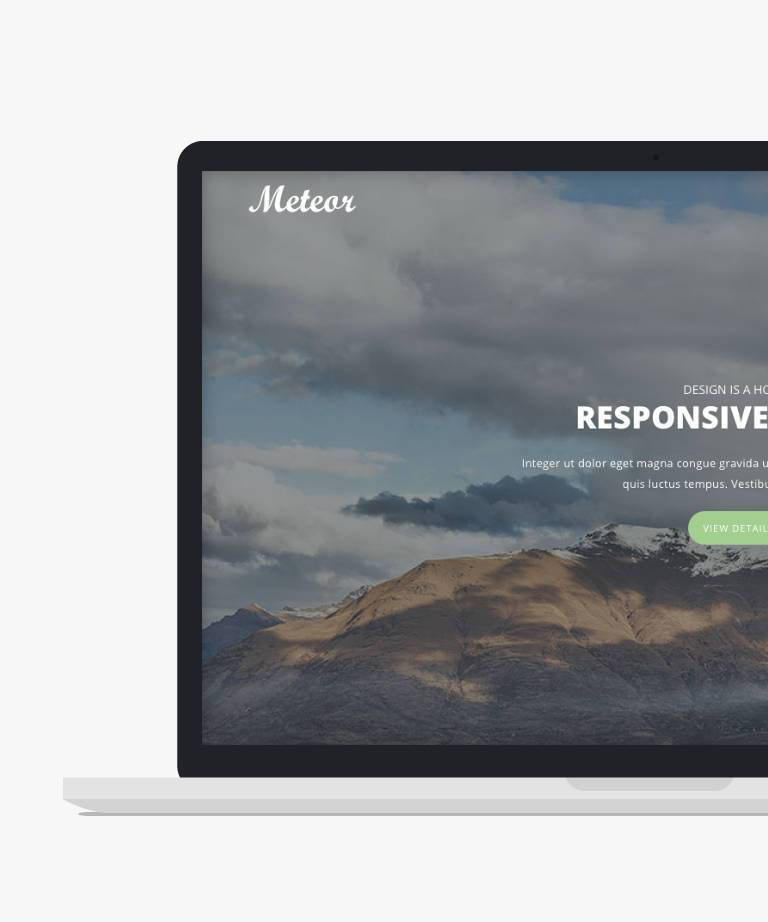 Meteor Free responsive HTML5 Bootstrap Portfolio template