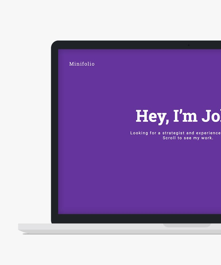 Minifolio Free responsive HTML5 Bootstrap Portfolio template