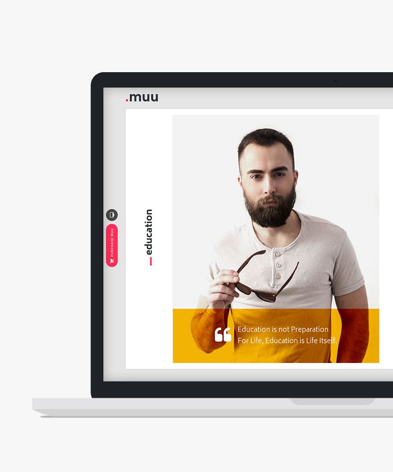 MUU Responsive HTML5 Bootstrap One Page Portfolio template