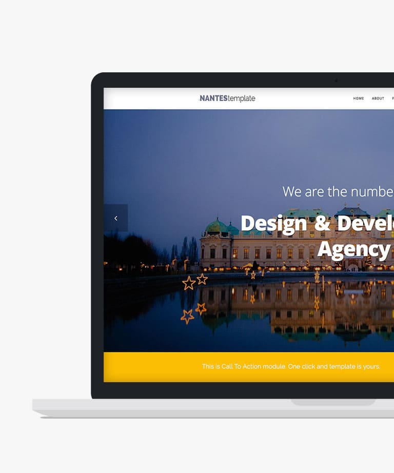 Nantes Free responsive HTML5 Bootstrap One page template