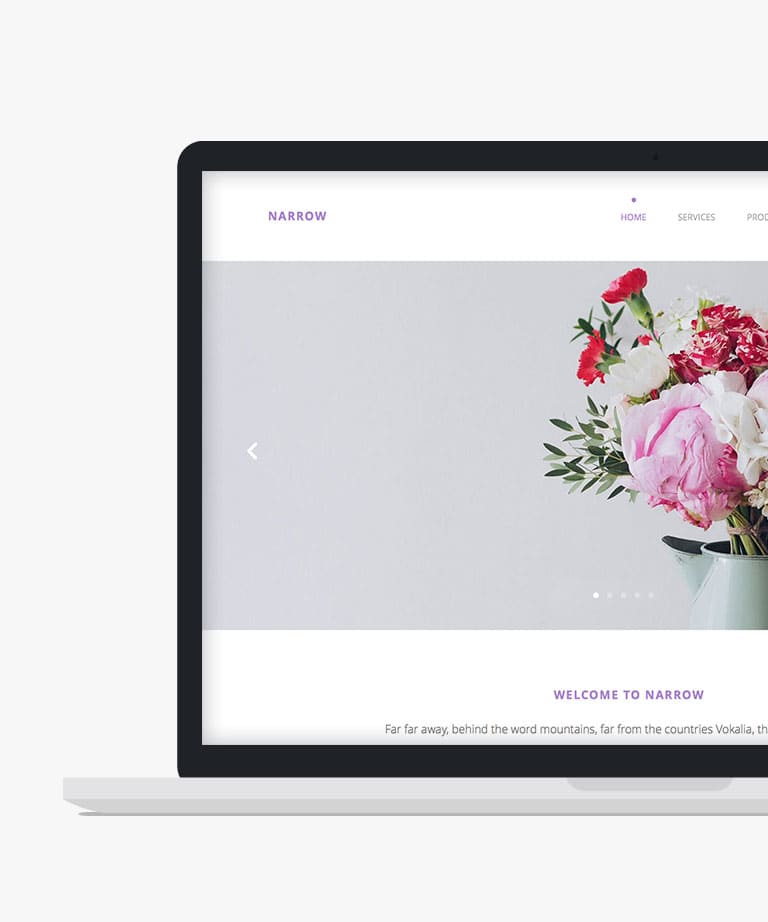 Narrow Free responsive HTML5 Bootstrap template