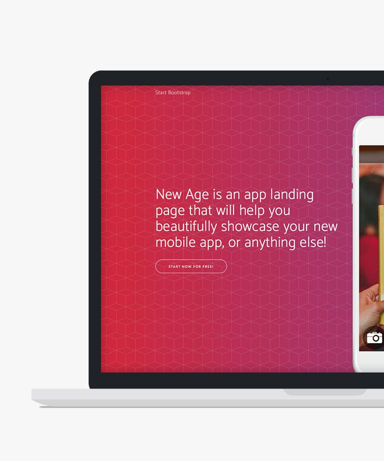 New Age Free responsive HTML5 Bootstrap template