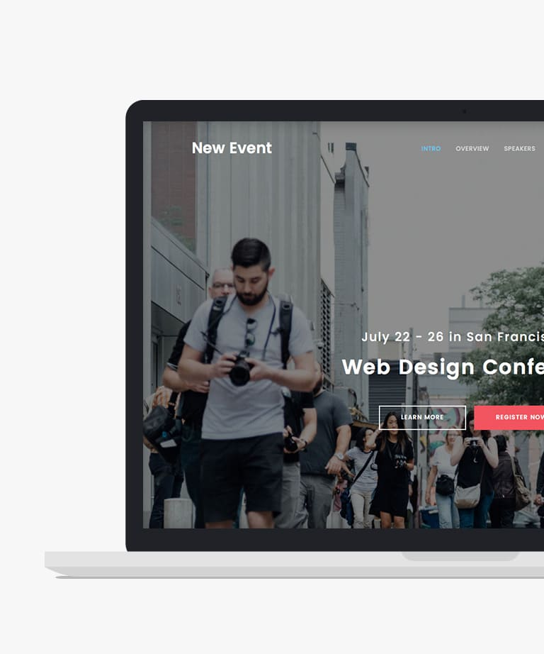 New Event Free responsive HTML5 Bootstrap Event template