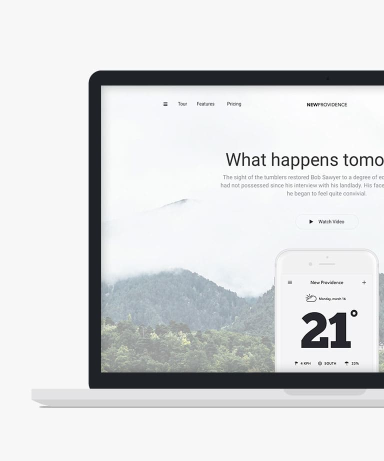 New Providence Free responsive HTML5 Bootstrap template