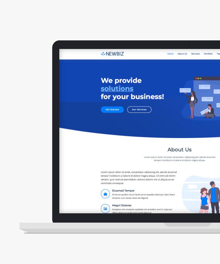 NewBiz Free responsive HTML5 Bootstrap Business template