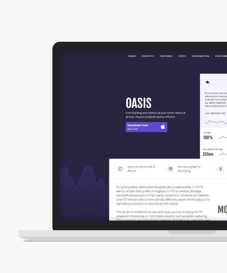 Oasis (Jekyll) Free responsive HTML5 App template