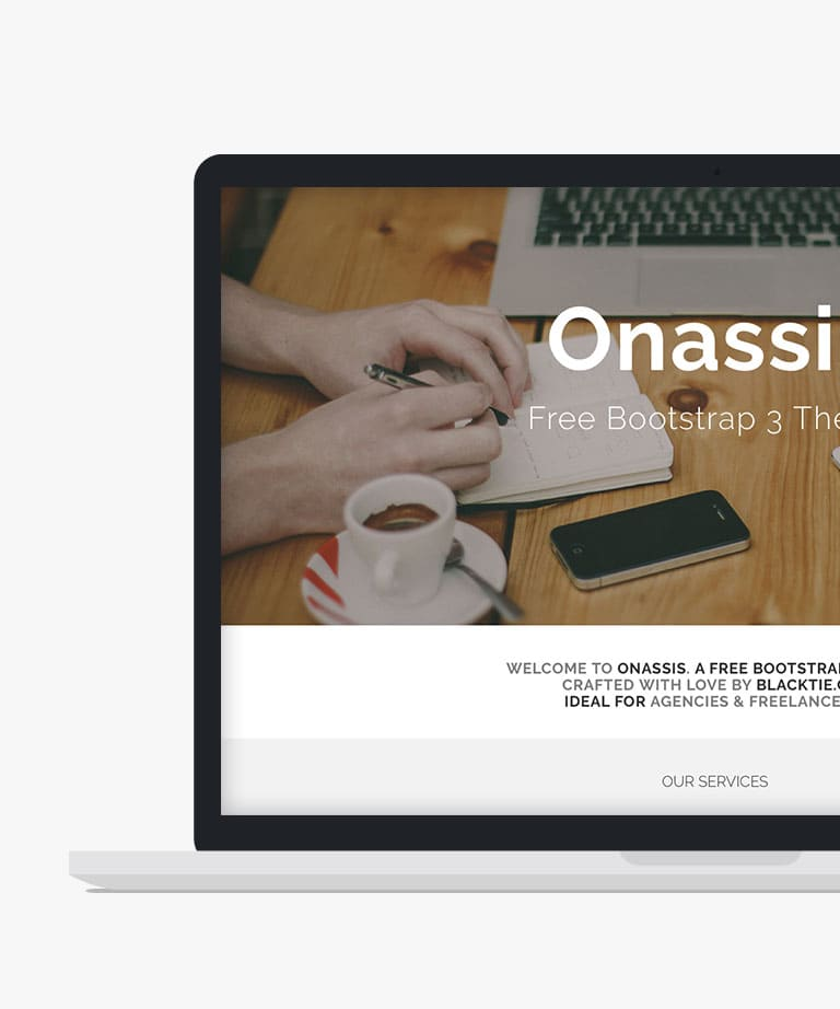 Onassis Free responsive HTML5 Bootstrap template