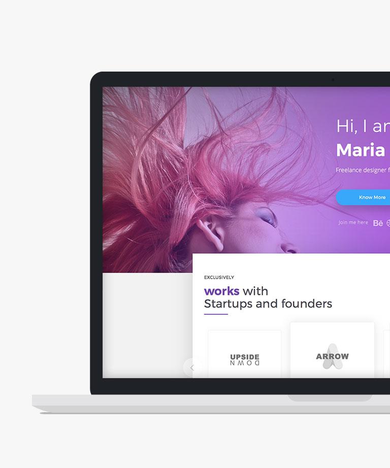 One Page Portfolio Free responsive HTML5 Bootstrap Portfolio template
