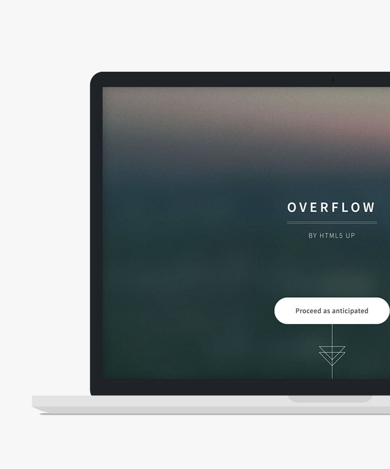 Overflow Free responsive HTML5 Bootstrap template