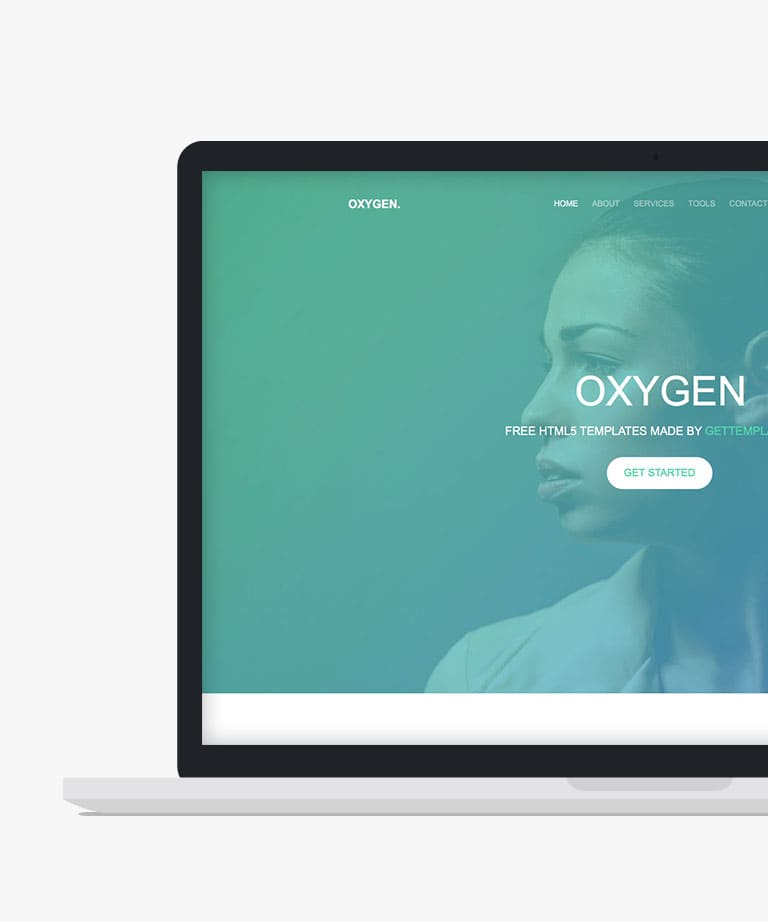 Oxygen Free responsive HTML5 Bootstrap template