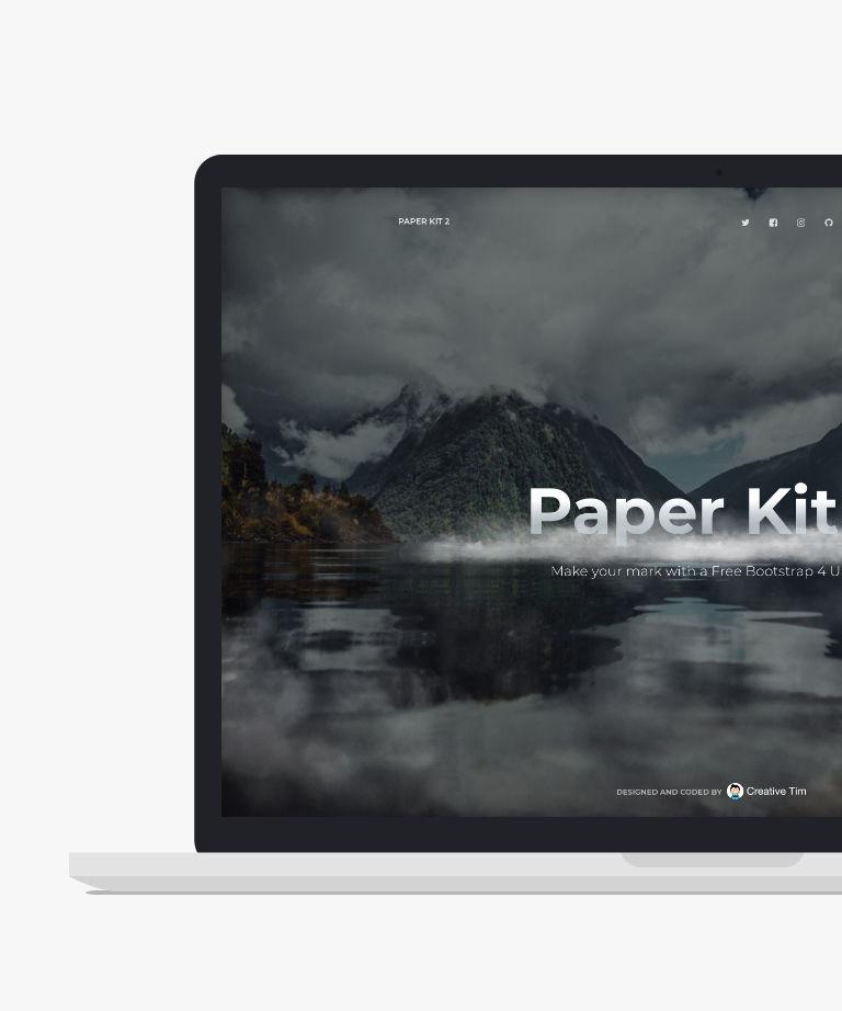 Paper Kit 2 Angular Free responsive HTML5 Bootstrap UI Kit