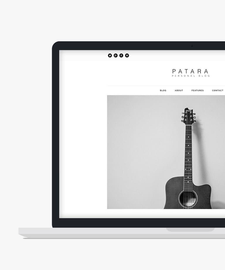 Patara Free responsive HTML5 template