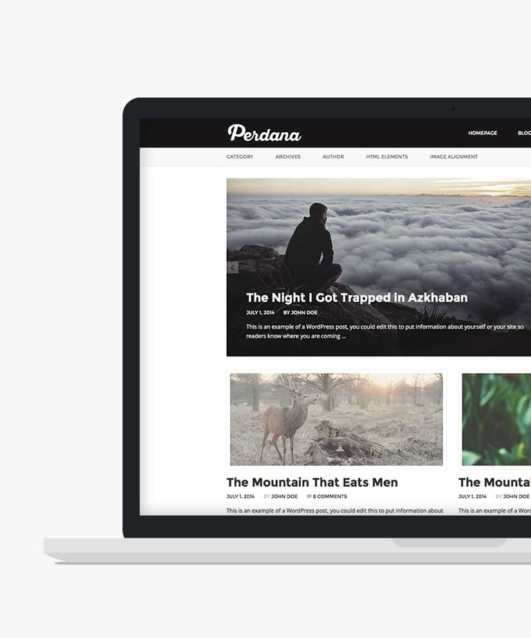 Perdana Free responsive HTML5 Bootstrap template