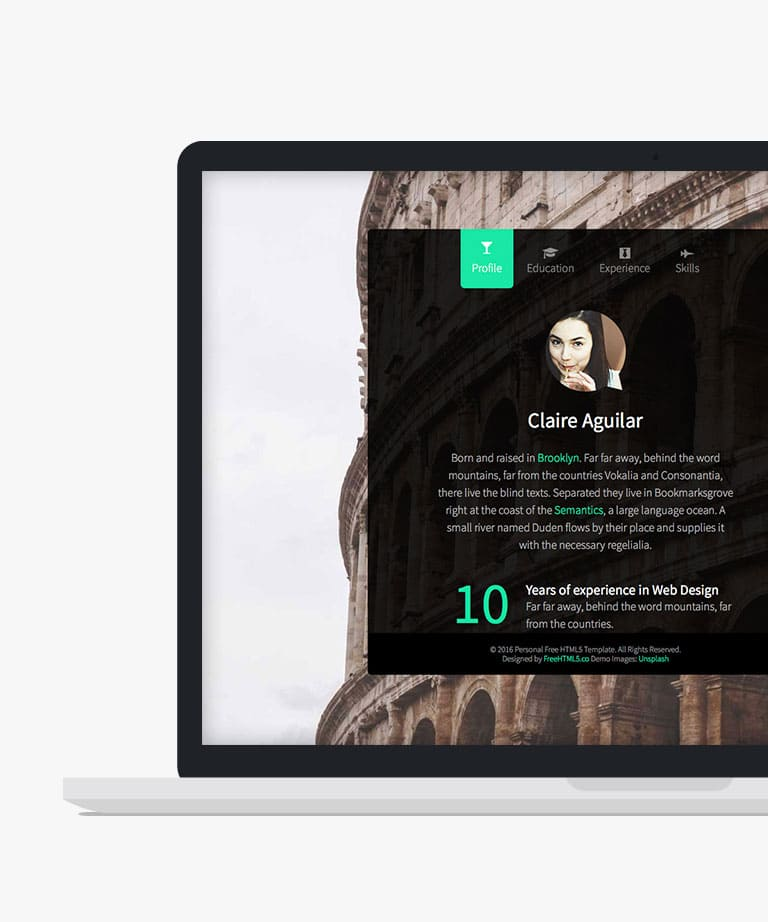 Personal Free responsive HTML5 Bootstrap template
