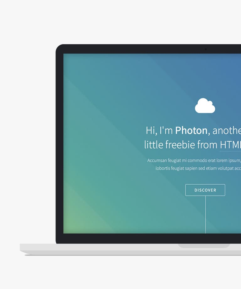Photon Free responsive HTML5 Personal template
