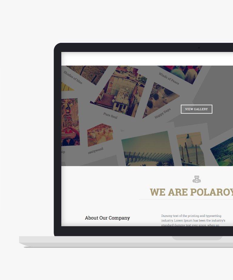 Polaroyd Free responsive HTML5 Bootstrap Portfolio template
