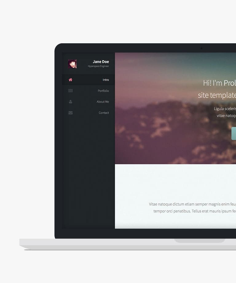 Prologue Free responsive HTML5 template