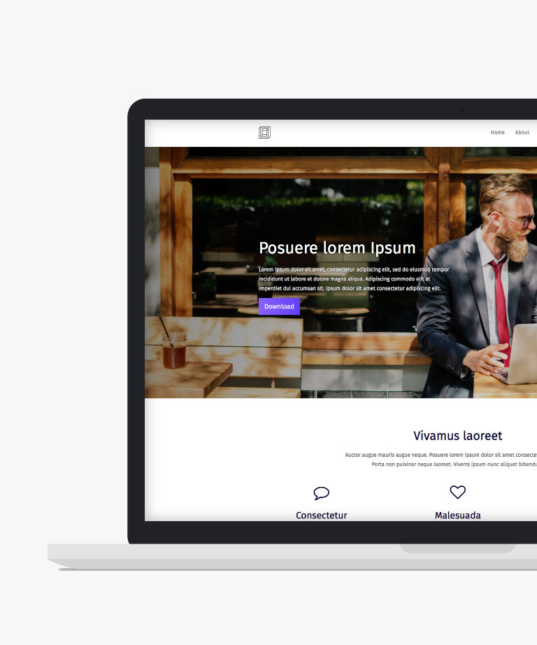 Pure Free responsive HTML5 Bootstrap Business template