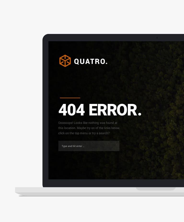 Quatro Free responsive HTML5 404 templates