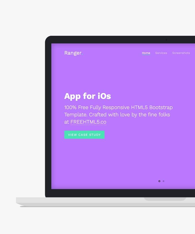 Ranger Free responsive HTML5 Bootstrap App template