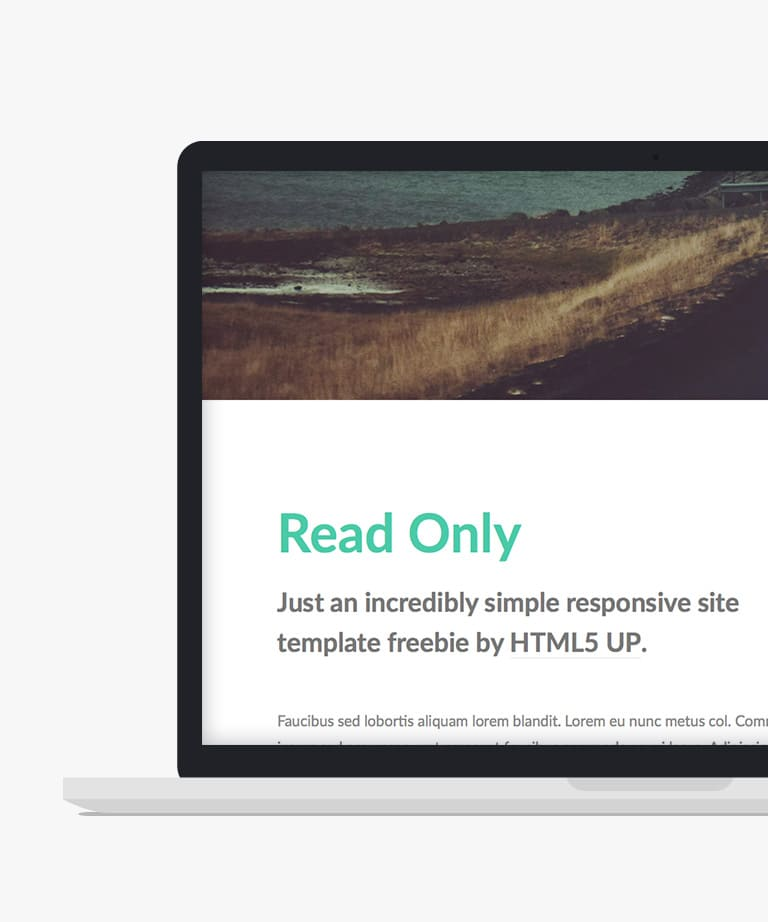 Read Only Free responsive HTML5 Personal template