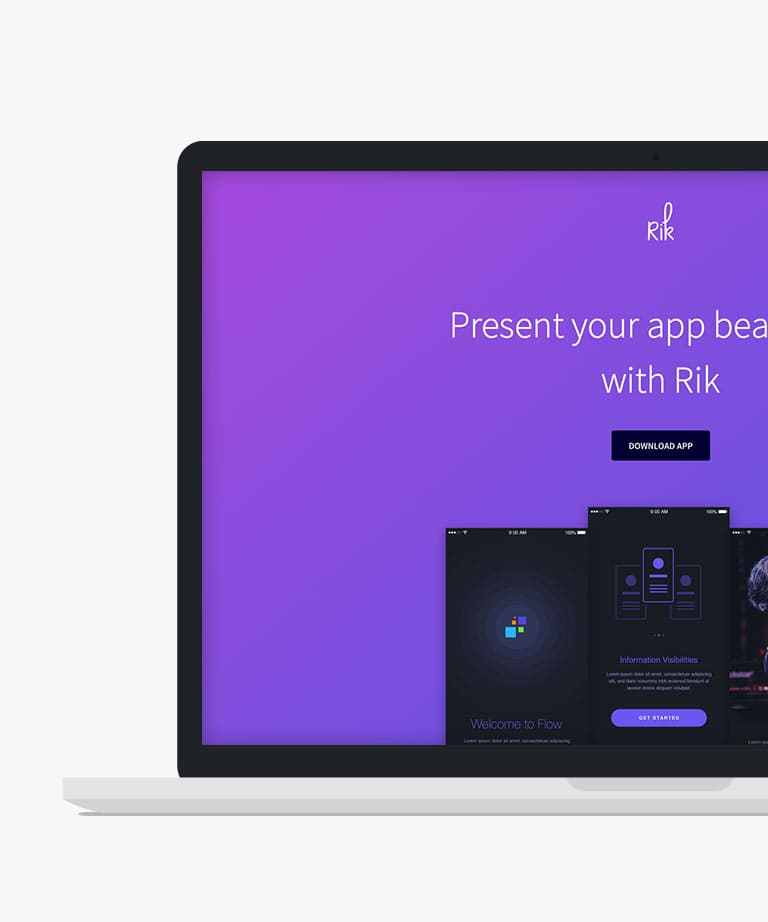 Rik Free responsive HTML5 Bootstrap template