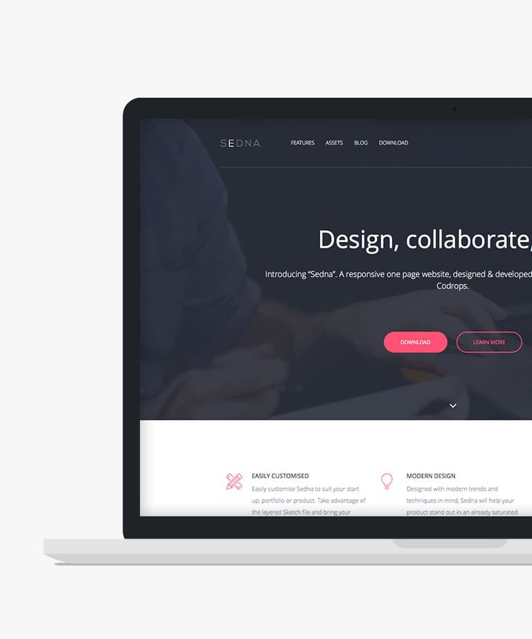Sedna Free responsive HTML5 Bootstrap template
