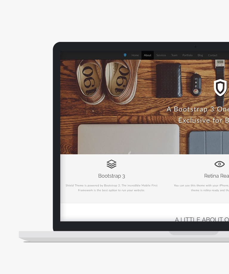 Shield Free responsive HTML5 Bootstrap template