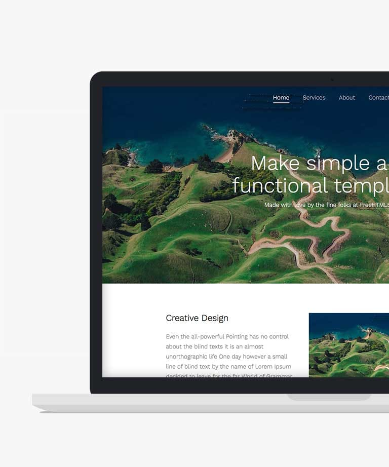 Simple Free responsive HTML5 Bootstrap template
