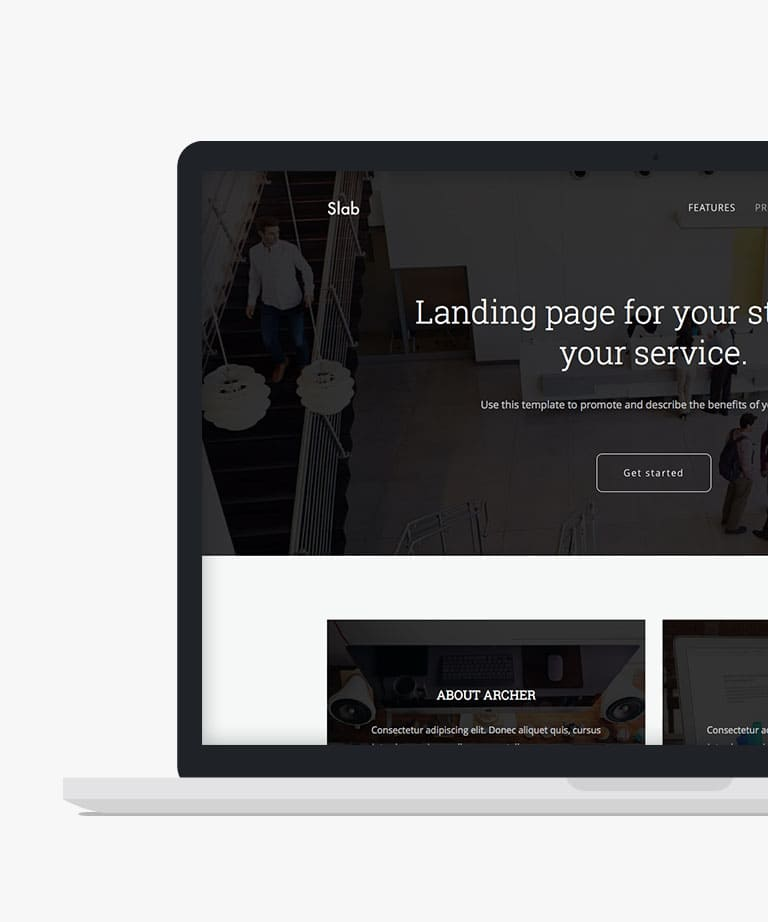Slab Free responsive HTML5 Bootstrap template