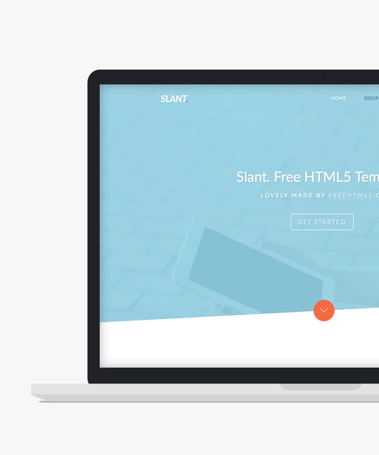 Slant Free responsive HTML5 Bootstrap Landing page template