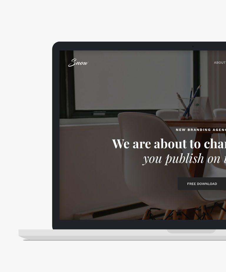 snow Free responsive HTML5 Bootstrap Portfolio template