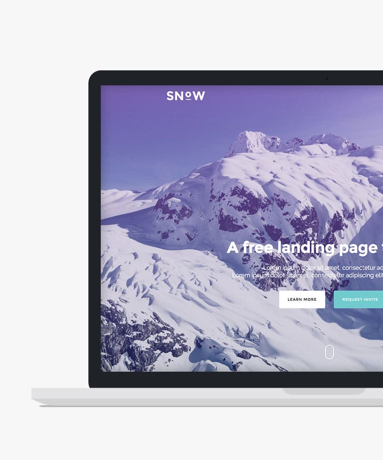 Snow Free responsive HTML5 Bootstrap Landing Page template