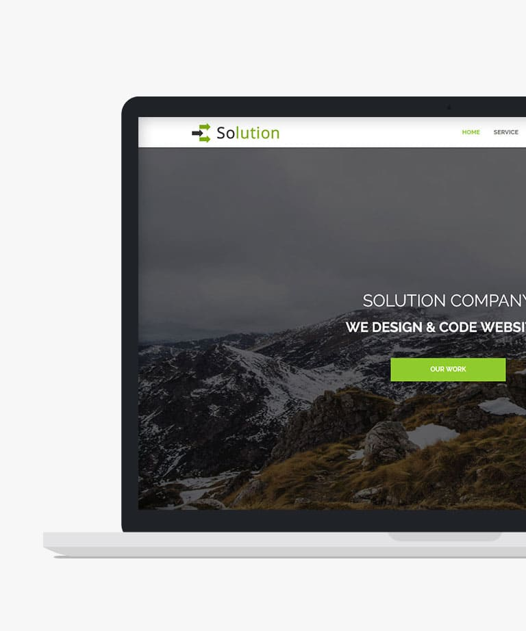 Solution Free responsive HTML5 Bootstrap One Page template