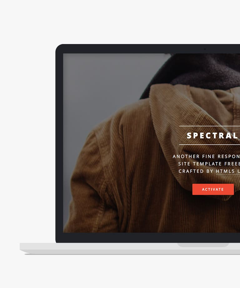 Spectral Free responsive HTML5 Personal template
