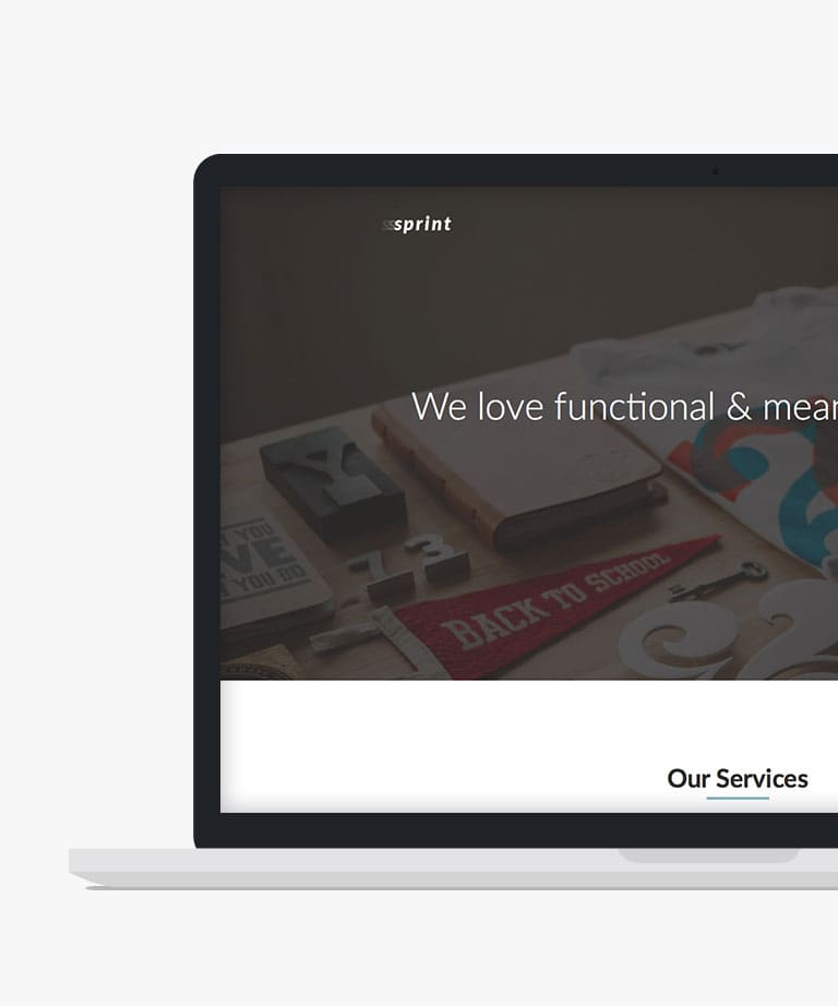 Sprint Free responsive HTML5 Bootstrap template